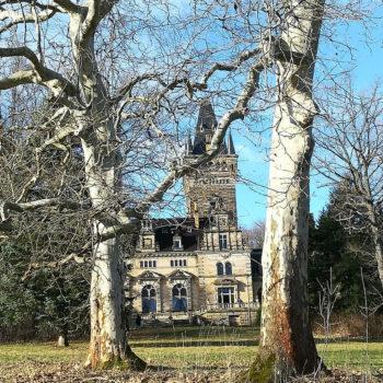 Blick auf das Schloss in Hummelshain; Marlies Fiedler