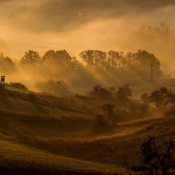 Sonnenaufgang und Nebel über dem Mühltal (bei Kursdorf); Daniel Klie