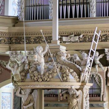 Blick auf den Altar in der Schlosskirche Eisenberg; Daniel Klie