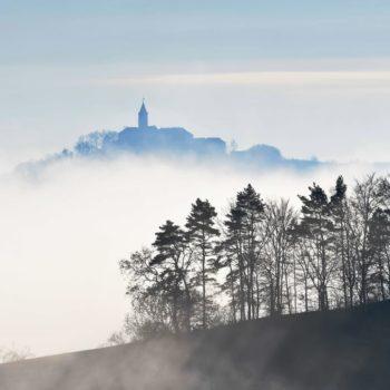 Schwebende Burg (Blick vom Leutratal); Wolfgang Prokein